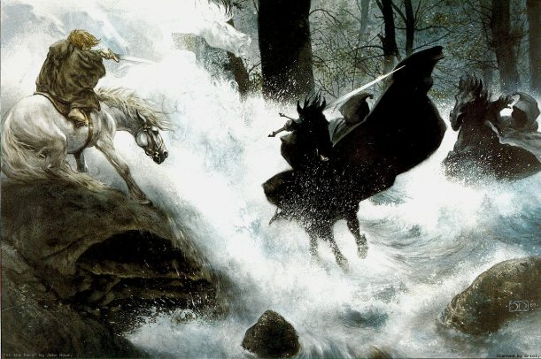 Nazgul at Bruinen